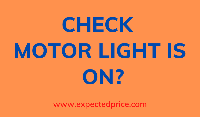 Photo of My check motor light is on. Presently what?
