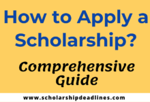 Photo of How to Apply a Scholarship? (Comprehensive Guide)