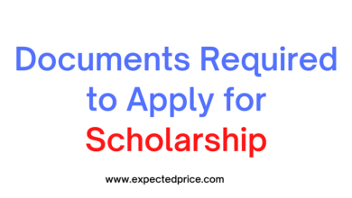 Photo of Documents Required to Apply for Scholarship
